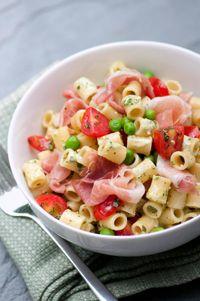 Pasta Salad Recipe: Ditalini Macaroni with Creamy Parm & Pesto Dressing