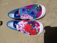 AWESOME hand painted shoes by nancy schaff