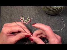 Lesson 16 Two color needle tatting - YouTube