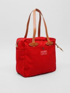 Filson Red Label Zipped Tote Red   Present London