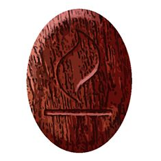 The Fire Rune - Wood for Legends of the Traveler