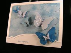 Butterflies and Clouds 2 - Stamp Class 2/13 by susie nelson - Cards and Paper Crafts at Splitcoaststampers