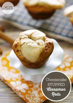 Cheesecake Stuffed Cinnamon Rolls - the best of BOTH dessert recipes!