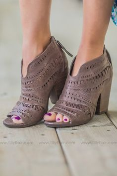 a58ca1b8f Not Rated Groove Thang Bootie in Taupe Taupe
