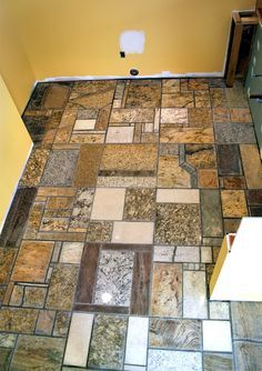 Granite counter top scrap floor pictures. Photo from Brittany Parks