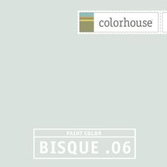 Colorhouse BISQUE .06 - Has the beauty of bisqueware, the softness of unfired pottery. Slather this color in entryways and hallways- a gentle hue that will move you easily through a space.