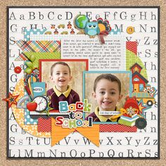 #papercraft #scrapbook #layouts Back to School - Scrapbook.com