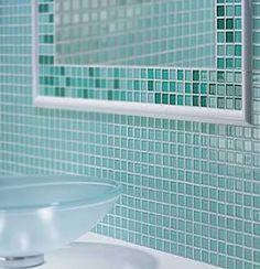 green glass tile back splash