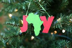 check out this guy's etsy shop -- selling ornaments to raise money for their ethiopian adoption!! // Joy in Africa Ornament 5 wide by ethiopiadad on Etsy, $10.00