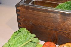 Wooden Compost Bin, Countertops, Handmade Gifts, Vintage, Etsy, Kid Craft Gifts, Vanity Tops, Craft Gifts, Countertop
