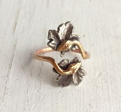14Kt Rose Gold Snake Ring Ouroboros Double by ChaseAndScoutDesign