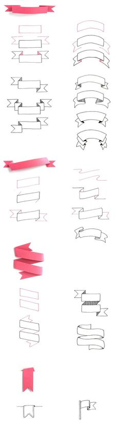 how to draw a banner - how to dr . how to draw a banner – how to draw a banner useful for hand lettering, zentangle inspired art, greeting cards / birthday cards, doodles, … Lettering Tutorial, Bullet Journal Inspiration, Drawing Tips, Drawing Art, Drawing Ideas, Doodle Art, How To Doodle, How To Draw Hands, Doodles