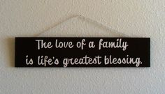 Family quote hand painted wood sign