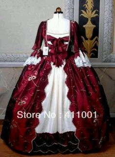 Red & white southern bell dress