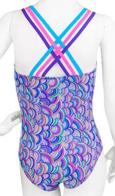 Purple Yarn Woven Leotard (Alternate View)  #leotard #gymnastics #gymnast…