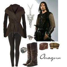"""Aragorn"" by kazila on Polyvore. FYI if you didn't already know, I'm a LOTR total nerd."