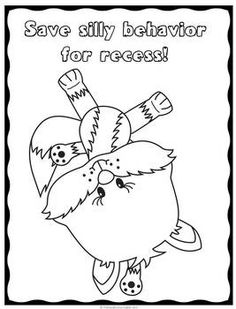 good behavior coloring pages - photo#5