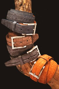 Artisan Handmade Genuine Alligator Caimán Leather Dress Belt Youth /&  Boys/'