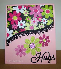 Ann Greenspan's Crafts: Flower Power Hugs (3 cards)