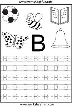 Free Printable Letter Tracing Worksheets For Kindergarten – 26 Worksheets