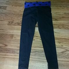 Victoria's Secret Pink yoga pants Little faded from washings, see pic 3 for color. Small hole in pic 4. Still in good loveable condition. PINK Victoria's Secret Pants