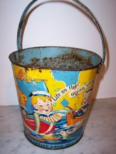 Back before plastic there was the metal sand bucket