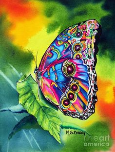 Butterfly Painting - Beatrice Butterfly by Maria Barry