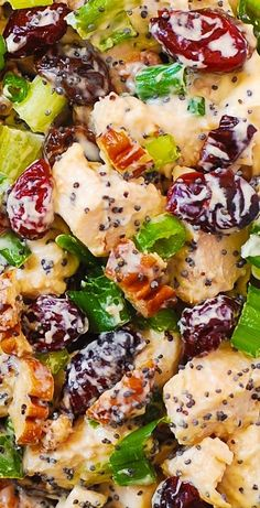 Pecan Chicken Salads, Chicken Salad Recipes, Salad Chicken, Cranberry Chicken, Keto Chicken, Healthy Chicken, Cooking Recipes, Healthy Recipes, Fast Recipes