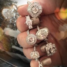 The most beautiful and sparkling engagement rings . Gold Jewellery, Diamond Rings, Jewelry Stores, Most Beautiful, Diamonds, Gems, Engagement Rings, Jewels, Earrings