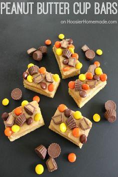 Peanut Butter Cup Bars | Recipe on HoosierHomemade.com