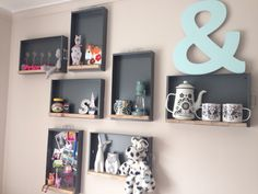 Filing cabinet draws and wood pallets - Sophie's room!