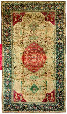 Antique Persian Tabriz Carpet, circa from Doris Leslie Blau Antique Rugs collection.: Size: × Antique rugs are one of the best pieces to use when decorating - their… Dark Carpet, Wool Carpet, Rugs On Carpet, Cheap Carpet, Modern Carpet, Persian Carpet, Persian Rug, Palette Verte, Rugs