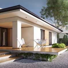 This modern and charming house comes with a sunny and refreshing backyard and functional interiors.