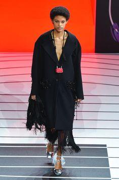Prada | Ready-to-Wear Autumn 2020 | Look 54 Fall Winter, Autumn, Milan, Prada, Ready To Wear, Kimono Top, Shirt Dress, My Style, How To Wear
