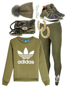 """""""Olive & Camo"""" by terra-glam ❤ liked on Polyvore featuring adidas Originals, Valentino and Inverni"""