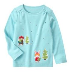 NWT Gymboree WINTER CHEER, Ice Skating Fun Long Sleeve Tee   Available in our online store at http://stores.ebay.com/starbabydesignshomestore