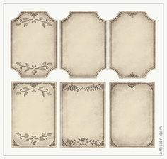 Free Vintage Frames Here is a collection of aged paper frame graphics to use wit. Free Vintage Frames Here is a collection of aged paper frame graph Vintage Frames, Vintage Tags, Vintage Labels, Vintage Paper, Vintage Diy, Printable Frames, Printable Tags, Free Printables, Printable Vintage