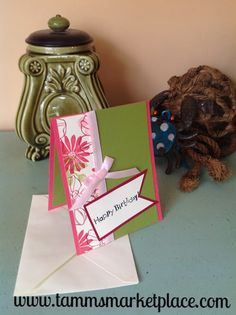 """Limited Edition from the """"Ivory Set"""" Happy Birthday Card with Ivory Envelope – Tamm's Marketplace"""