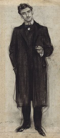 The Athenaeum - Portrait of José León Pagano (Ramon Casas y Carbó - )