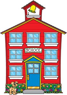free clip art of an old fashioned little red school house sweet rh pinterest com clipart of school supplies clipart of school children