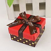 Square Favor Box With Chocolate Ribbon (Set o... – GBP £ 0.70