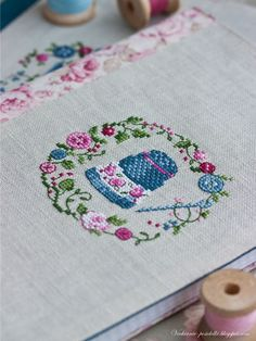 not sure where to get this but i love this thimble and the sewing machine cross stitch on the same page/