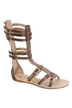 Chase and Chloe Joey-6 Gladiator Sandal in Tan