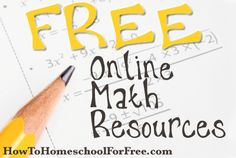 FREE Math Curriculum Online! {link to Math is Fun website for grades Pre-K through 8 math curriculum}