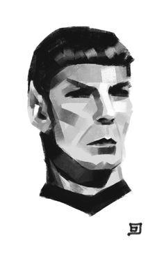 Spock www.facebook.com/SingularArtBy1/ #painting #digitalpainting #portraitpainting #sketch Spock, Portrait Art, Star Trek, Sci Fi, Fanart, Geek, Facebook, Stars, Painting