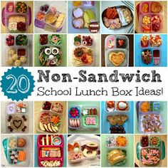 This is great - Lunch Made Easy: 20 Non-Sandwich School Lunch Ideas for Kids! via Keeley McGuire