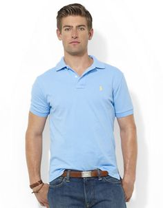 Men\u0027s | Shirts | Custom Fit Short Sleeved Cotton Mesh Polo | Hudson\u0027s Bay