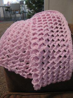 Afton's Afghan by Chelsea Hathaway--- klikni je tam video vzoru-------- Baby Afghans, Baby Blanket Crochet, Crochet Baby, Knit Crochet, Crochet Blankets, Baby Blankets, Afghan Crochet Patterns, Crochet Stitches, Crochet Afghans