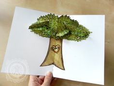 Tutorial - DIY Download - Custom Carved Heart Tree Pop Up Card. Great for Father's Day!