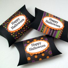 Halloween Pillow Boxes Set of 12   Great Party by AcarrdianCards